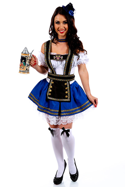 Blue Girls Oktoberfest Womens Costume