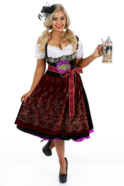 Deluxe Beer Girl Oktoberfest Womens Costume