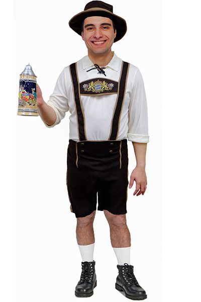 Traditional Lederhosen Oktoberfest Mens Costume